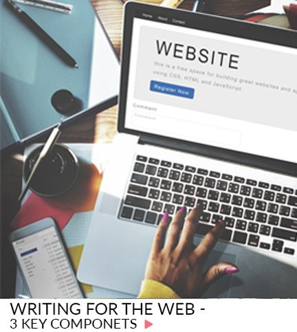 Writing for the web – 3 Key components