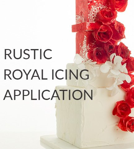 Rustic Royal-Icing application