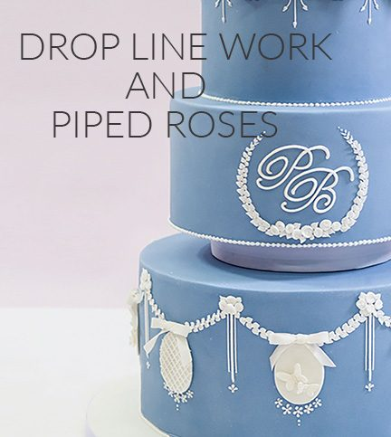 Drop lines and piped roses