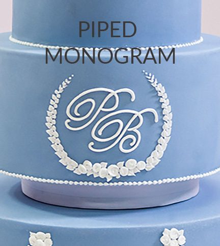 Piped monogram