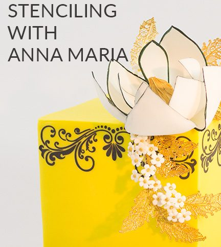 Stencilling with Anna Maria