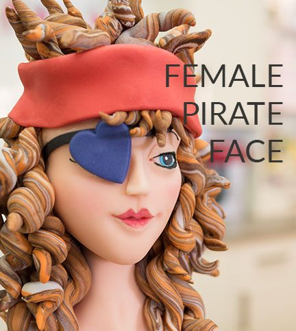 Female pirate face