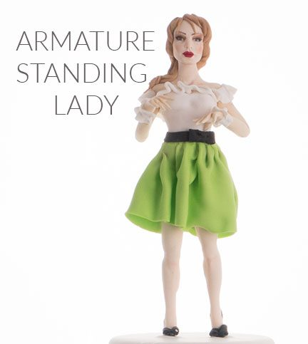 Armature standing lady