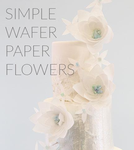 Simple Wafer Paper Flower Cakeflix