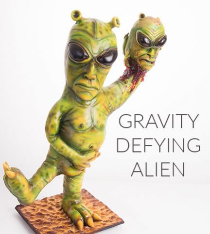 Gravity defying alien quickbite
