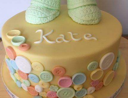 baby shower little shoes cake