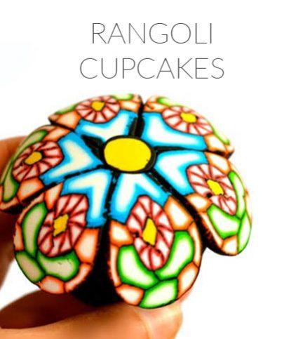 Rangoli Cupcakes