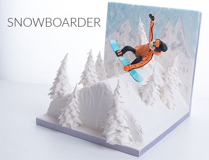 Snowboarder Cake Baking and Decorating Tutorial