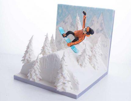 snowboarder cake tutorial - CakeFlix