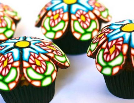 rangoli cupcakes - colourful cupcake tutorials