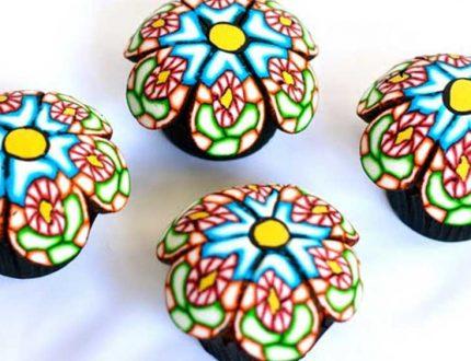rangoli cupcakes tutorial