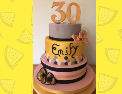 30th birthday cake - cake of the month
