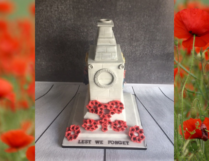 poppy - memorial day cake