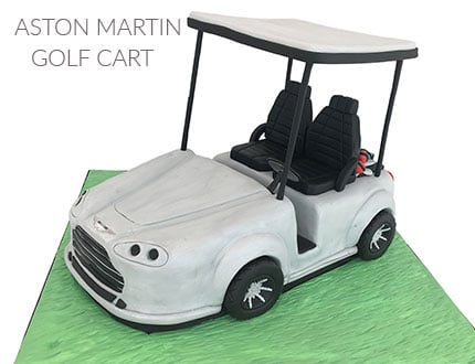 Aston Martin Golf Cart Cake