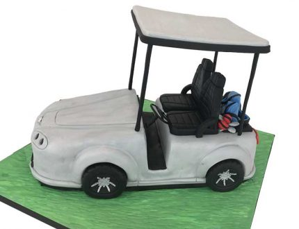 aston martin golf cart cake tutorial