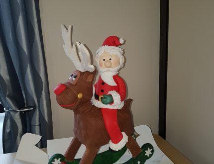 santa cake - rockin rudolph