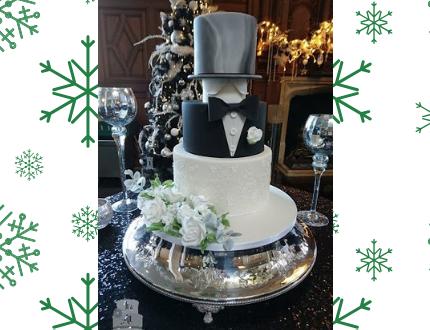 wedding cake - cake of the month - tuxedo