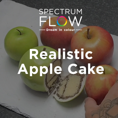 How to Make and Airbrush a Realistic Apple Cake with Spectrum Flow