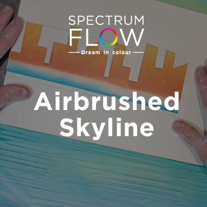 Airbrushed Skyline using Spectrum Flow