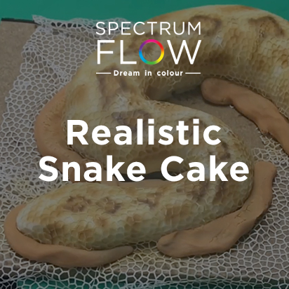 How to Make and Airbrush a Realistic Snake Cake