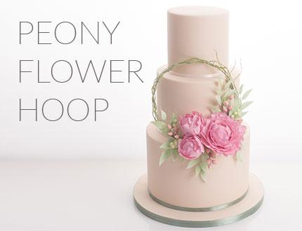 Peony Flower Hoop
