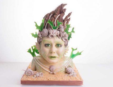 mermaid cake sculpture
