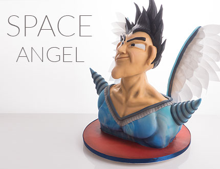 Space Angel Superhero Cake