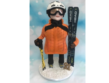 ski cake - slopes - cake of the month