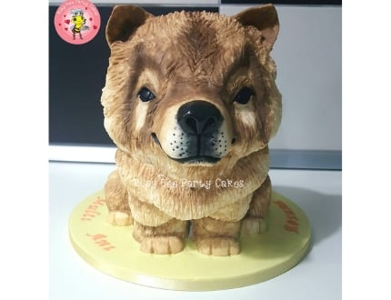puppy cake - cake of the month february 2019
