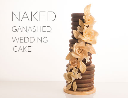 Naked Ganached Wedding Cake