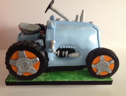 Viv Green tractor cake