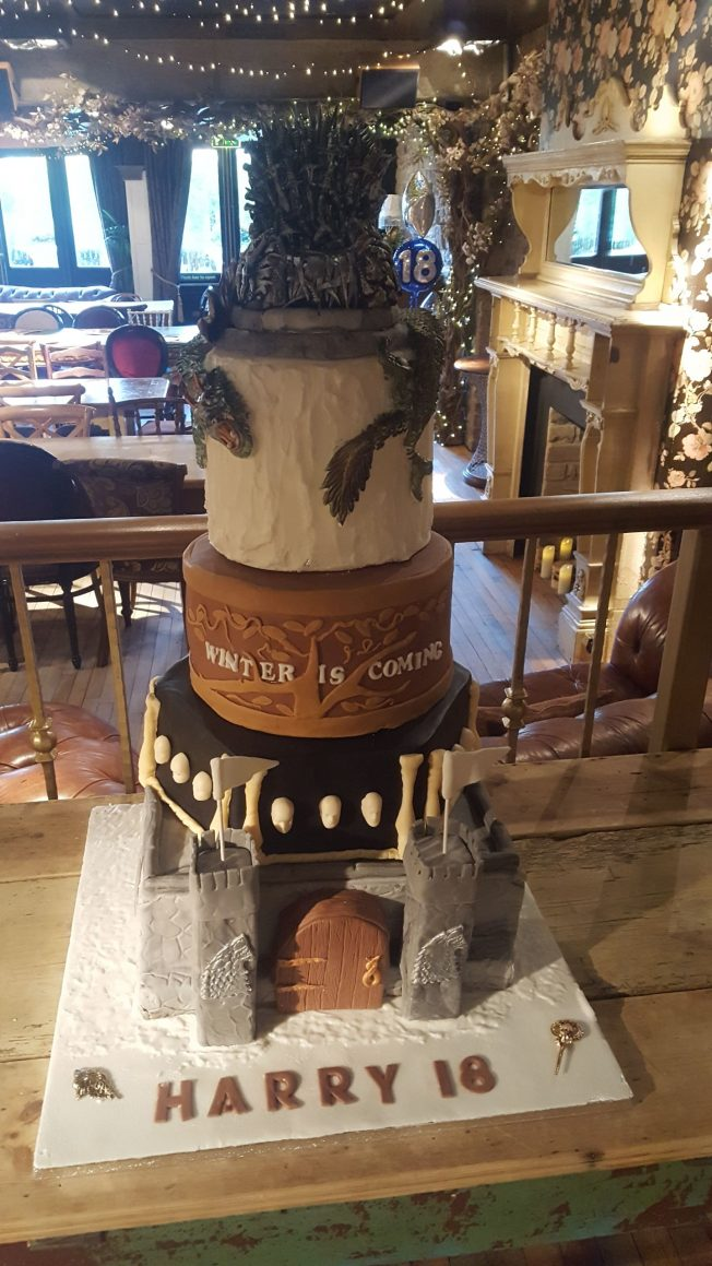 game of thrones cakes winter is coming