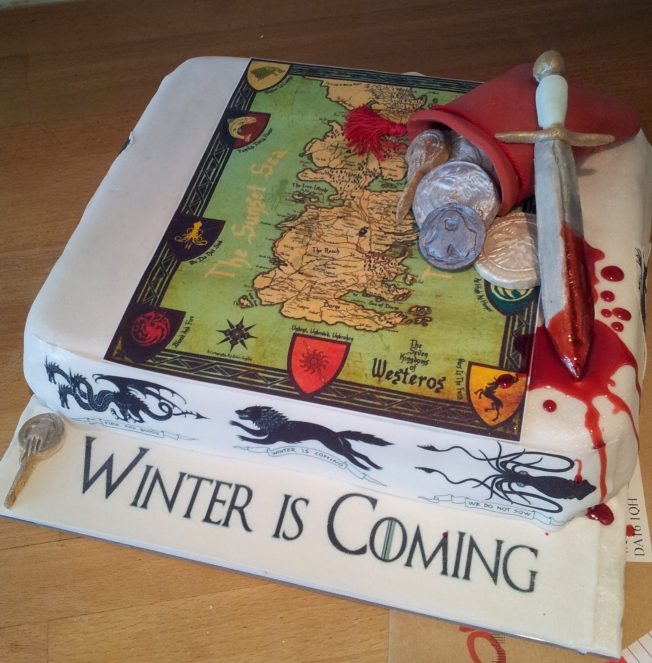 game of thrones cake - westeros cake - westeros map