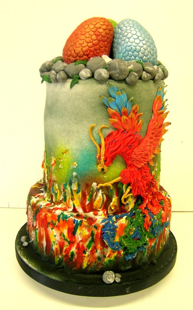 game of thrones cakes - dragon cake