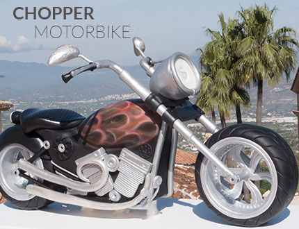 Chopper Motorbike Cake Baking and Decorating Tutorial