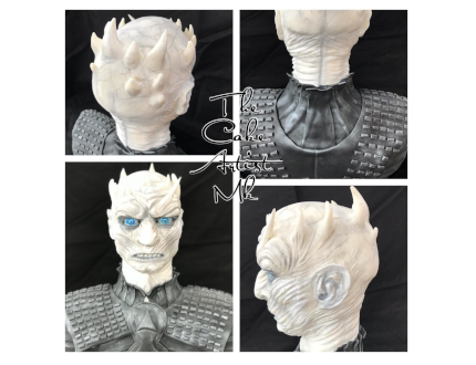 night king game of thrones - cake of the month