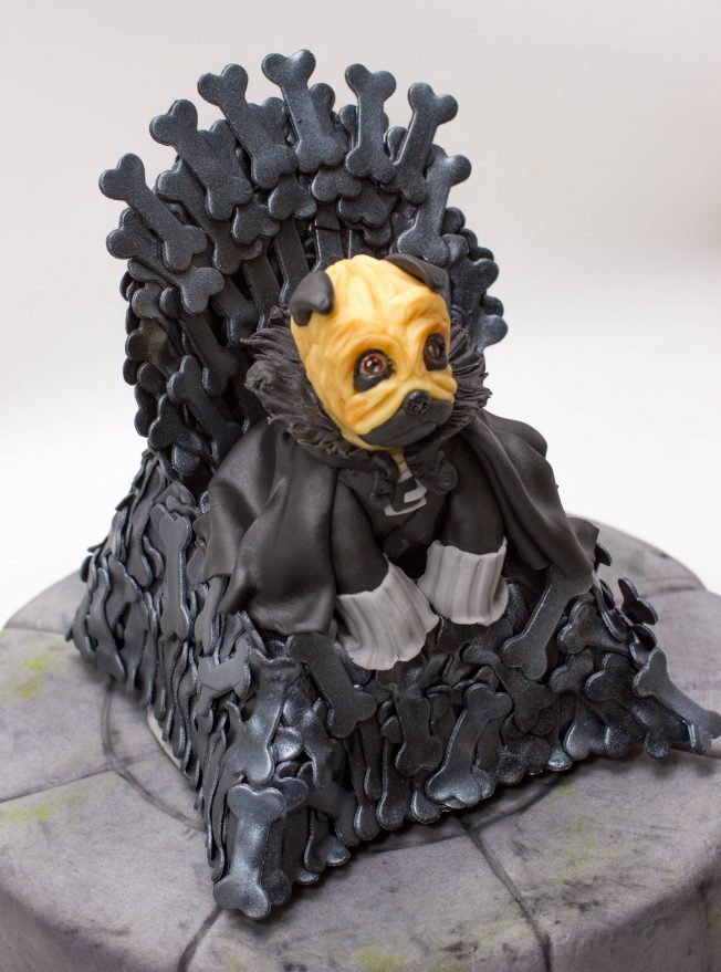 dog game of thrones cake