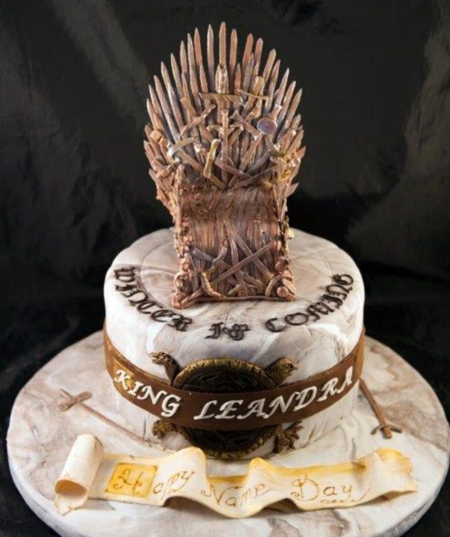 game of thrones cakes - iron throne cake