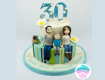 family cake - cake of the month april 2019