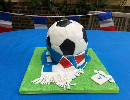 french football cake - cake of the month april 2019 - cakeflix