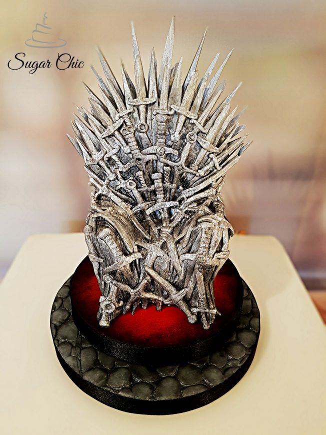 game of thrones - iron throne cake