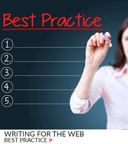 Writing for the web – Best Practice