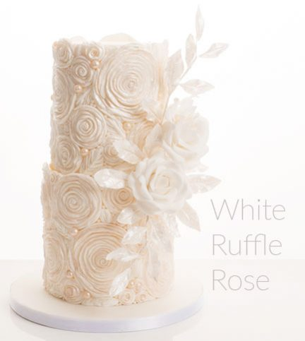 White Ruffle Rose