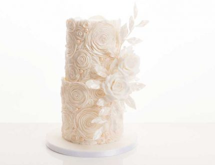 white ruffle rose cake tutorial - CakeFlix