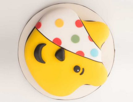 how to make a pudsey bear cake - children in need