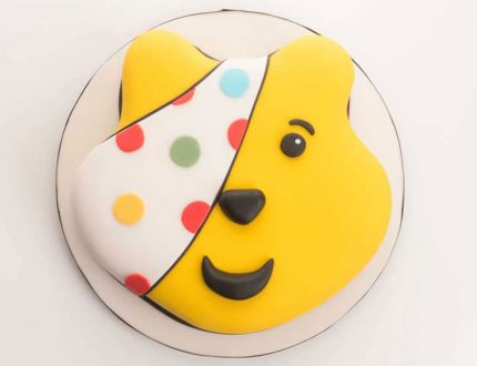 pudsey bear cake tutorial - cakeflix - children in need