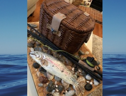 fish cake - cake of the month