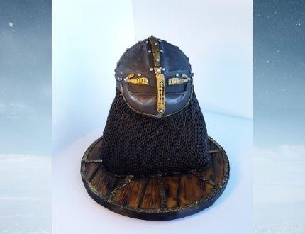viking helmet cake