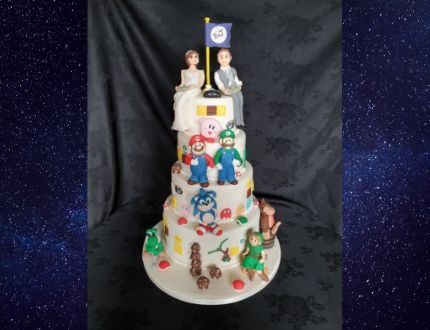 video game cake - cake of the month
