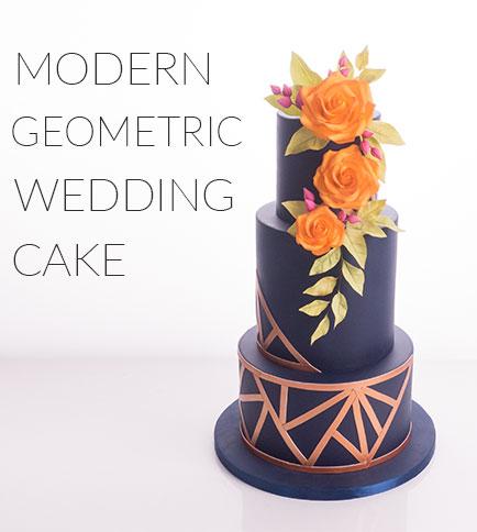 modern geometric cake tutorial
